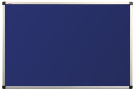 Tablica tekstylna (niebieski-unijny) rama aluminiowa model B2 120x180 cm