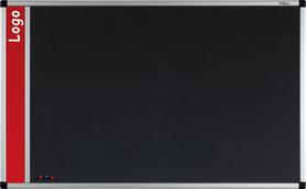 Tablica na logo tekstylna w ramie aluminiowej B1 (szara) 45x60 cm