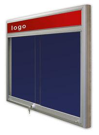 Gablota Casablanka tekstylna-drzwi przesuwane z logo 121x98 (12xA4)