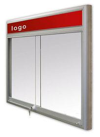 Gablota Casablanka magnetyczna-drzwi przesuwane z logo 95x100