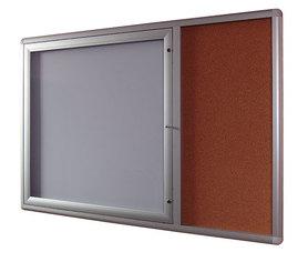 Gablota Oxford z panelem bocznym korkowym 107x159