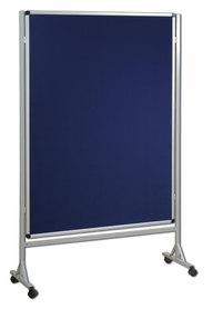 Mobilna ścianka tekstylna (niebieski-unijny) 120x180 cm
