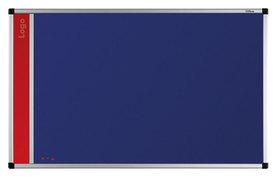Tablica na logo tekstylna w ramie aluminiowej B1 (niebieski-unijny) 100x150 cm