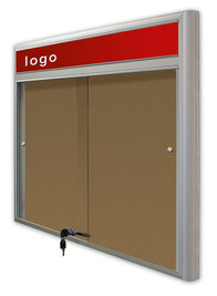 Gablota Casablanka eco  korkowa-drzwi przesuwane z logo 89x77 (6xA4)