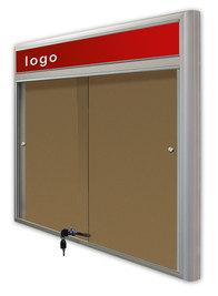 Gablota Casablanka eco  korkowa-drzwi przesuwane z logo 89x98 (8xA4)