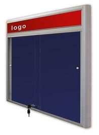 Gablota Casablanka eco  tekstylna-drzwi przesuwane z logo 93x160